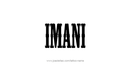 imani words