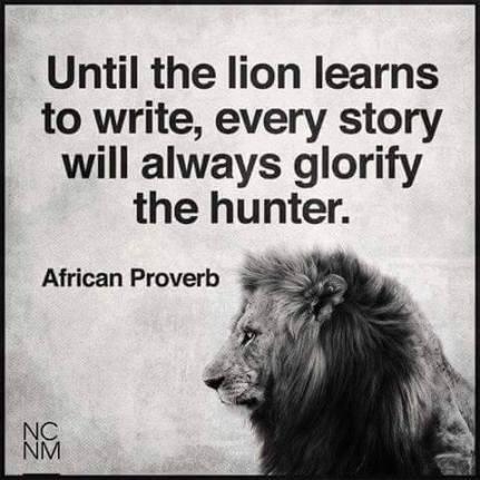 lion speaks